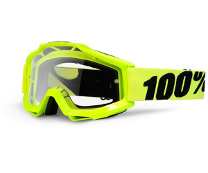 Goggle 100% Accuri fluo yellow lens-clear