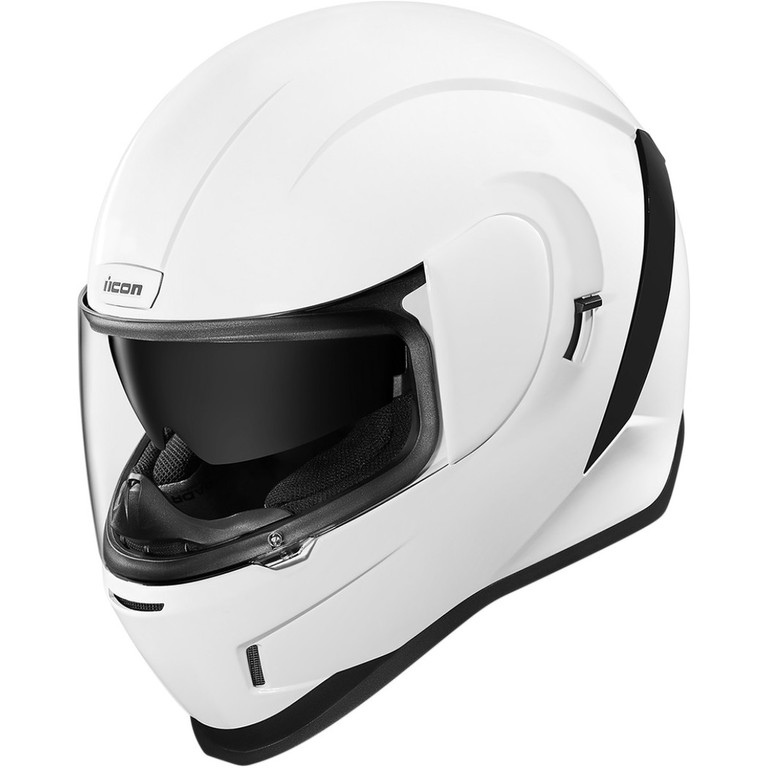Helma na motorku Icon Airform Gloss white