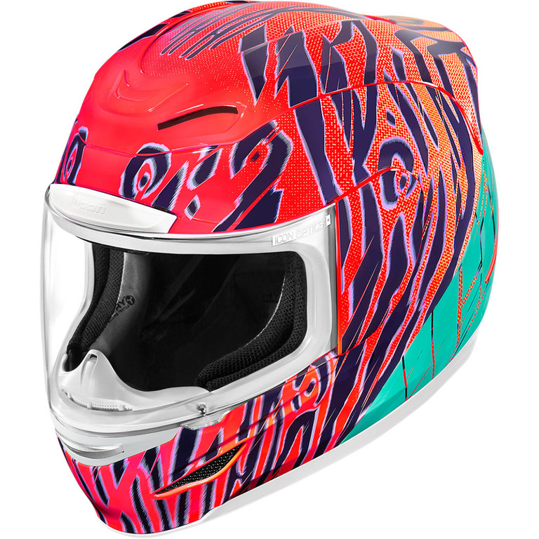 Helma na motorku Icon Airmada Wildchild orange