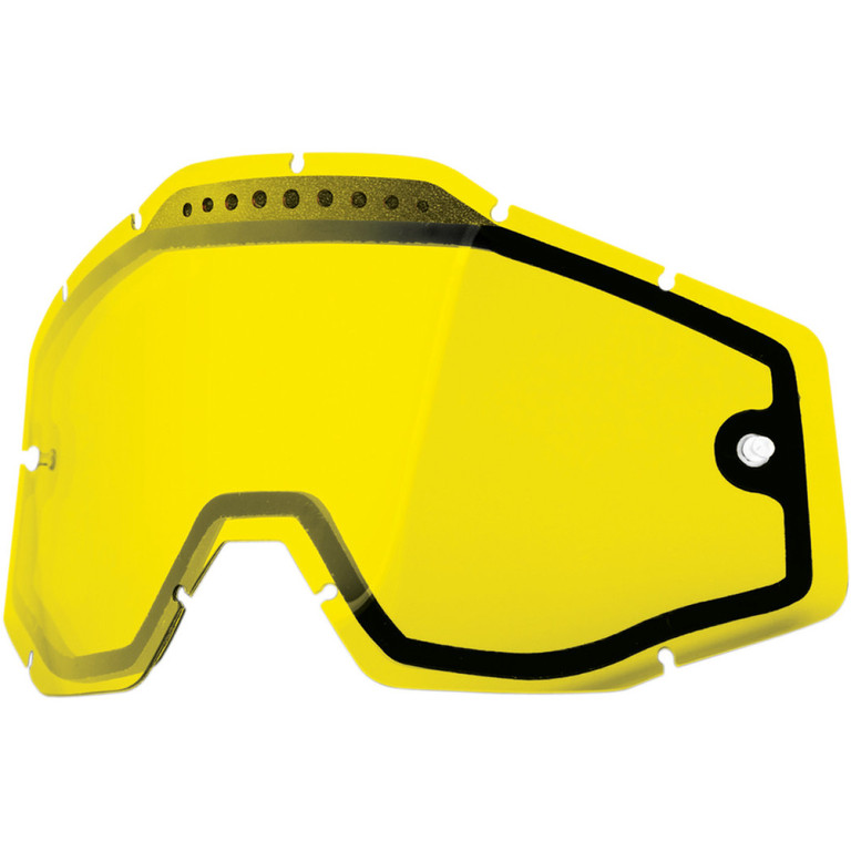 100% lens vented dual yellow
